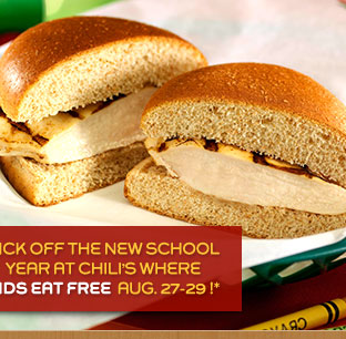 Kick off the new school year at Chili's where KIDS EAT FREE August 27-29!*